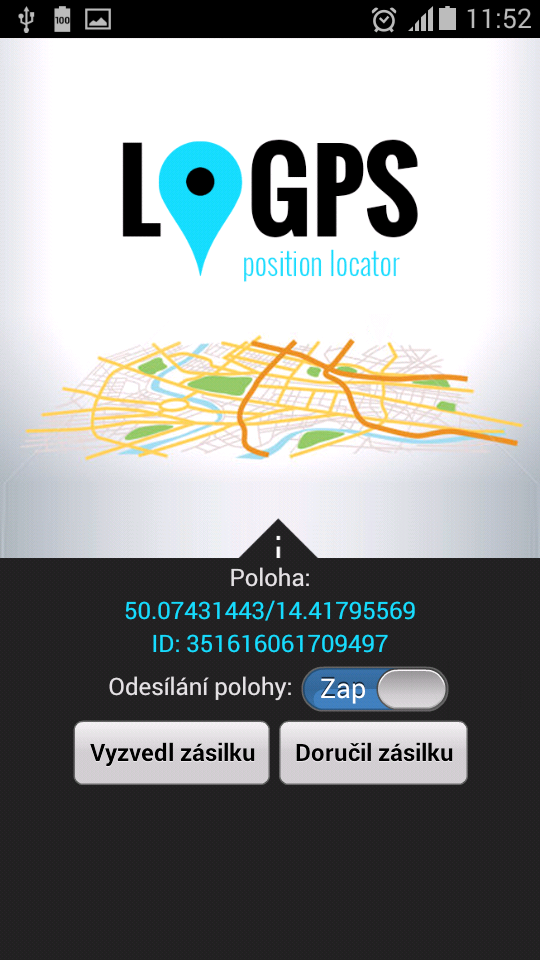 Aplikace pro hlášení polohy