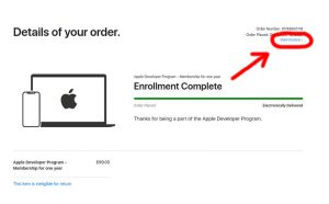 Faktura Apple - view invoice