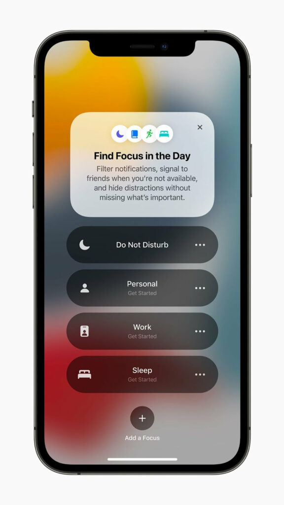 Notifikace na iOS 15